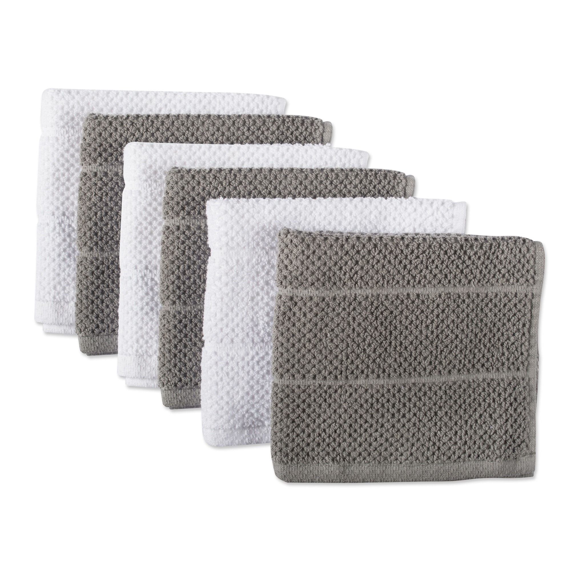 Design Imports DII Gray Basic Chef Terry Dishcloth